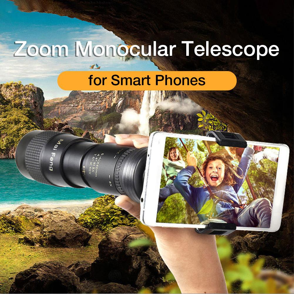 8-40X40MM 40x Large Field Of View Super Telephoto Zoom Monoculars For Smart Phones Waterproof Bird W