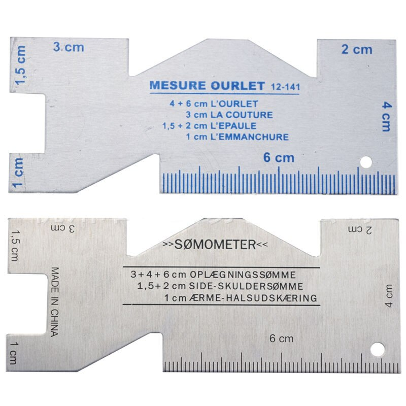 1 Bundle 2021 Hot Sale Polygonal Aluminum Alloy Ruler Measurement Tool Tailor Sewing Patchwork Drawing Tools Accessories 10x4cm
