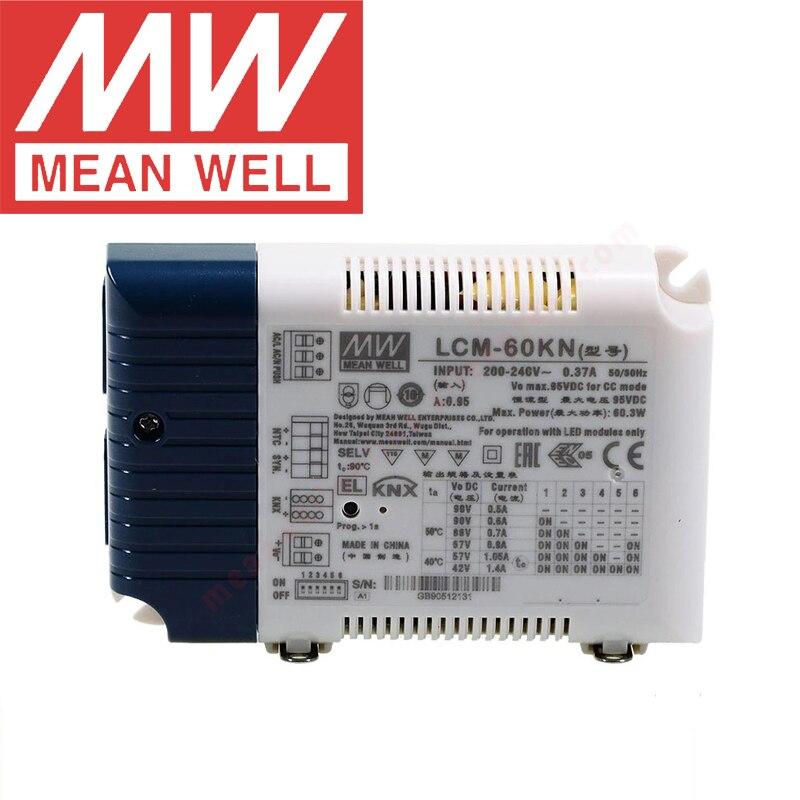 يعني جيدا LCM-60KN 60 واط متعددة المرحلة الوضع الحالي المستمر LED سائق مع DIP التبديل و KNX واجهة KNX LED السلطة