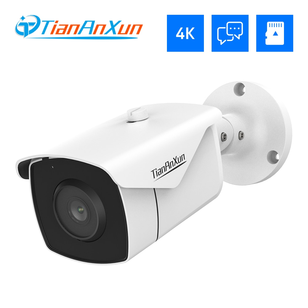Tiananxun 8Mp 4K Ip Camera Poe 5Mp Cctv Security Cameras Outdoor Home Two Way Audio Video Surveillance For Nvr System Onvif