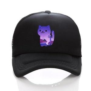 Anime Neko Atsume hat cute cartoon cosplay cap cotton Mesh funny Novelty adjusted baseball snapback hat