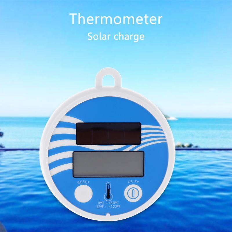 2020 nova piscina spa digital flutuante termômetro solar à prova dwaterproof água com fahrenheit & celsius