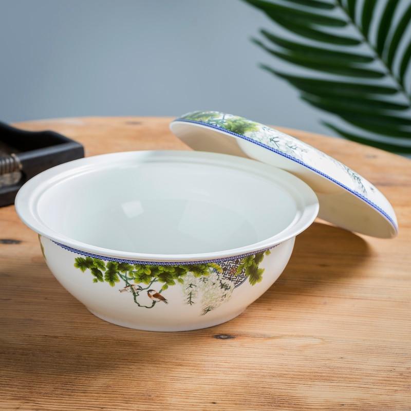 السيراميك كبيرة الحجم الخضار وعاء الحساء المنزلية الصينية عالية الجودة العظام الصين وعاء الحساء كبيرة مخلل الملفوف الأسماك المياه الخضار