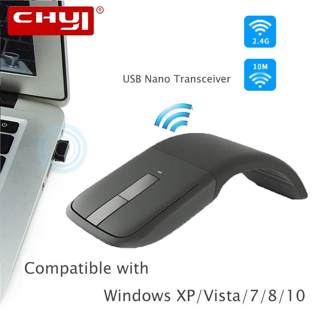 2.4Ghz Mouse Senza Fili Pieghevole Arc Touch Mouse con Touch Scroll Mause Gaming Mouse Del Computer Mouse per Microsoft Superficie Del Computer Portatile