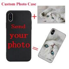 DIY Custom Photo Phone Case For Samsung A5 A3 2017 A6 A8 J6 J6 Plus 2018 Black Soft Cover For Samsung S8 S9 Note 9 Coque