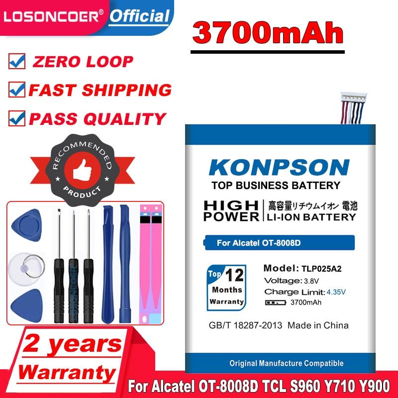 Novo 3700 mah tlp025a2 bateria do telefone móvel para alcatel um toque ídolo x + bateria 6043d scribe hd OT-8008D tcl s960 y710 y900