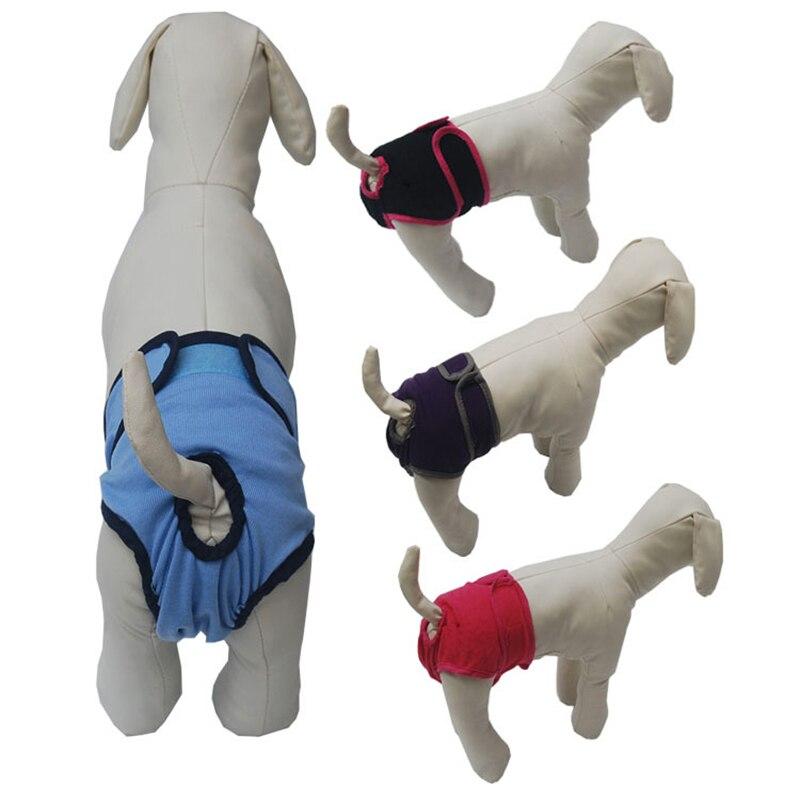 Hotsolid cor do cão feminino shorts filhote de cachorro calças fisiológicas fralda pet underwear para pequeno meidium cães da menina