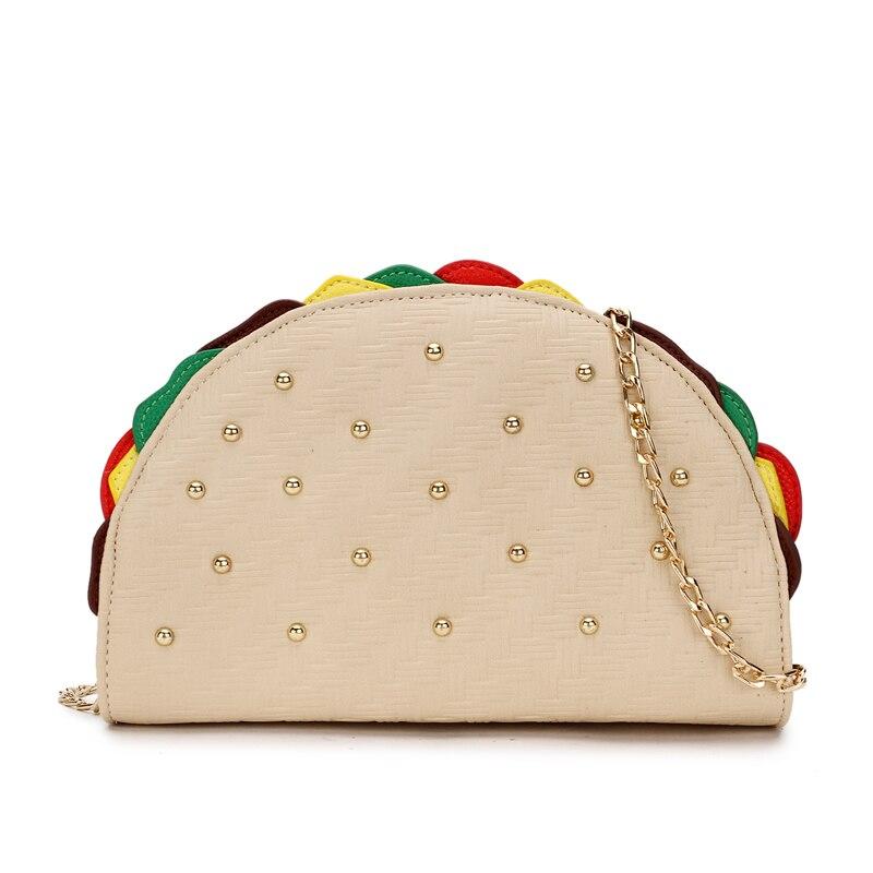 Chicken Rolls Shape Rivets Clutch Bag Party Bag Purse Chain Shoulder Bag Ladies Wallet Crossbody Messenger Bag Handbags