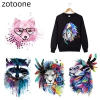 zotoone iron on vinyl heat transfer stickers carton animal transfers for clothing diy dog patches clothes appliques n