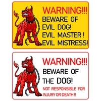 rulemylife warningbeware of the dog car stickers decal anime cool car accessories decoration pegatinas para coche