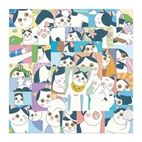 50pcs cartoon cat stickers for notebooks notepad laptop daily stationery adesivos sticker craft supplies scrapbooking material