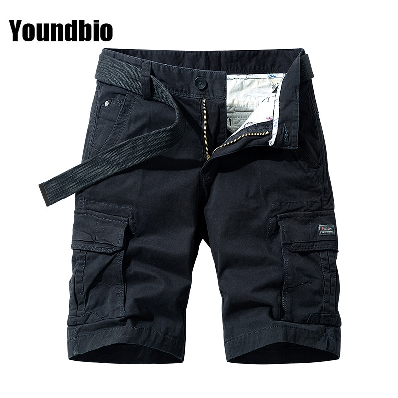 2021 Summer Men Fashion Casual Military Cargo Pocket Pants Male Shorts Cotton Male Tactical Shorts L