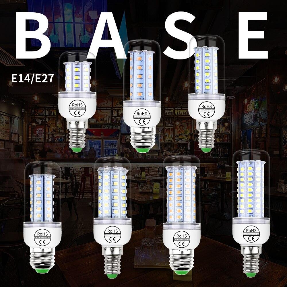 LED E27 Corn Light Bulbs SMD 2835 E14 Lamp AC 220V Warm White Home Lamps Energy Saving Ampoule Chandelier Lighting 240V