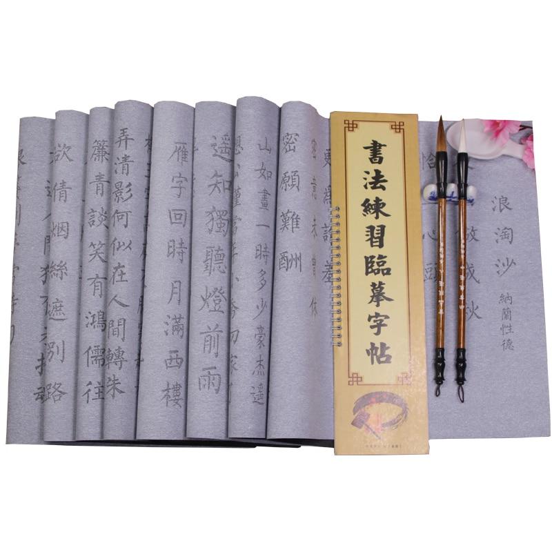 Pincel de escritura de agua mágico reutilizable, conjunto de pinceles de caligrafía para principiantes, ropa de escritura de agua de caligrafía china