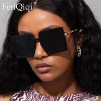 fashion oversized square sunglasses brand for female ladies unique sun glasses punk eye wear retro metal glasses oculos