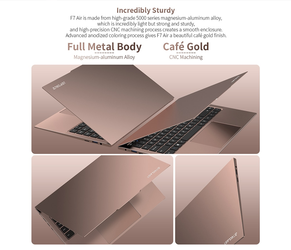 Teclast F7 Air Ultra Thin Laptop 14 inch Intel N4120 8GB LPDDR4 256GB SSD Notebook 1920x1080 FHD Windows 10 Computer 1.18KG 180°