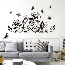 3D papillon belle fleur autocollant mural stickers muraux pour enfants chambre salon décor à la maison pour canapé TV