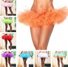 10 Colors Women Adult Fancy Dancewear Five Layers Tutu Ballet Perform Dance Pettiskirt Costume