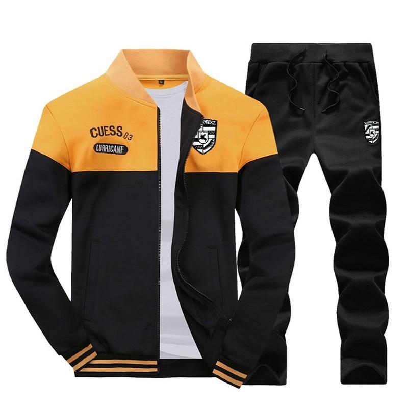 Новинка 2021, мужские спортивные костюмы на молнии, куртки, спортивная одежда, толстовки и мужские спортивные брюки на молнии, повседневная од...