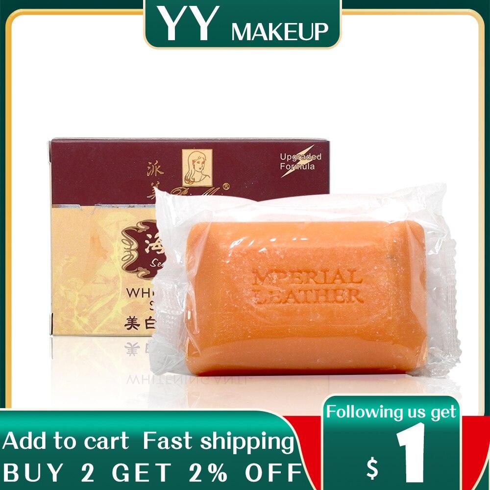 Seaweed paimei whitening soap anti freckle remove pigment anti acne face whitening soap 2pcs per lot недорого