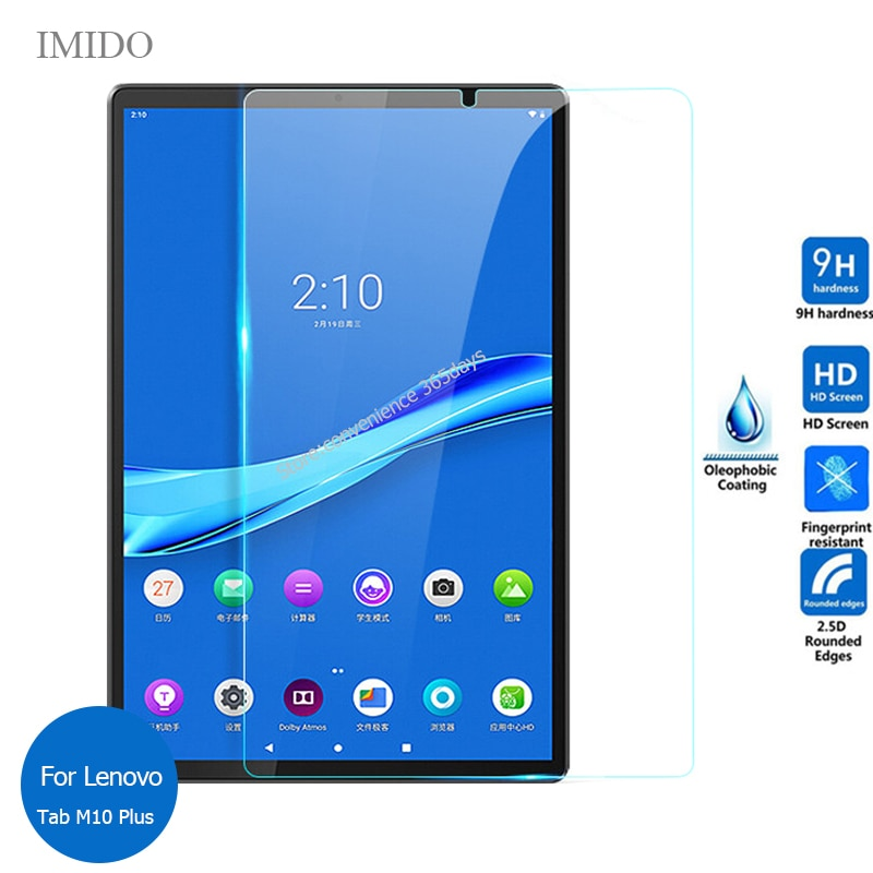 For Lenovo Tab M10 Plus FHD Tempered Glass Screen Protector 9h Safety Protective Film on M 10 Plus TB-X606F TB X606F 606F