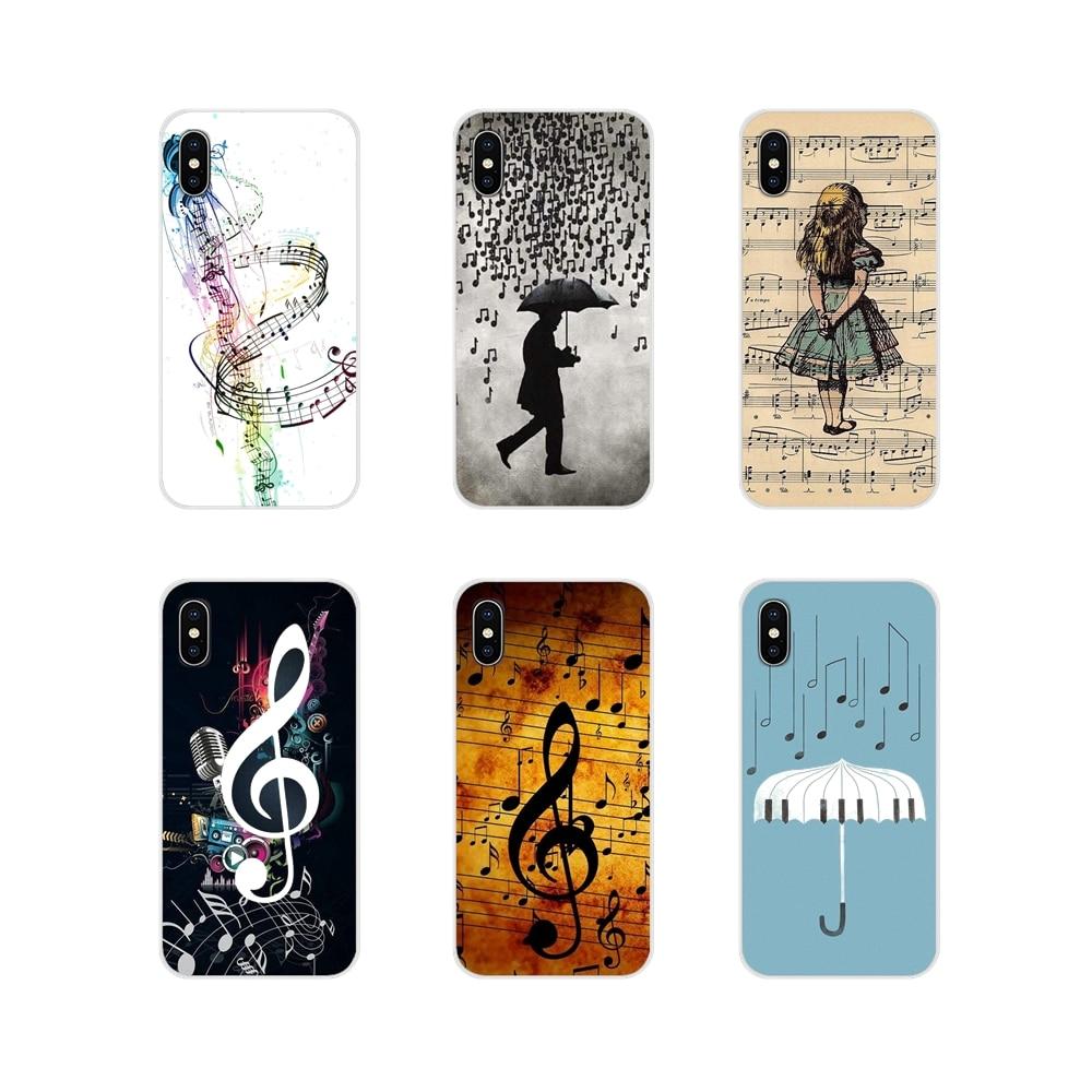 For Xiaomi Redmi Note 3 4 5 6 7 8 Pro Mi Max Mix 2 3 2S Pocophone F1 Soft Silicone TPU Case Musical Notes Violin Classical Music