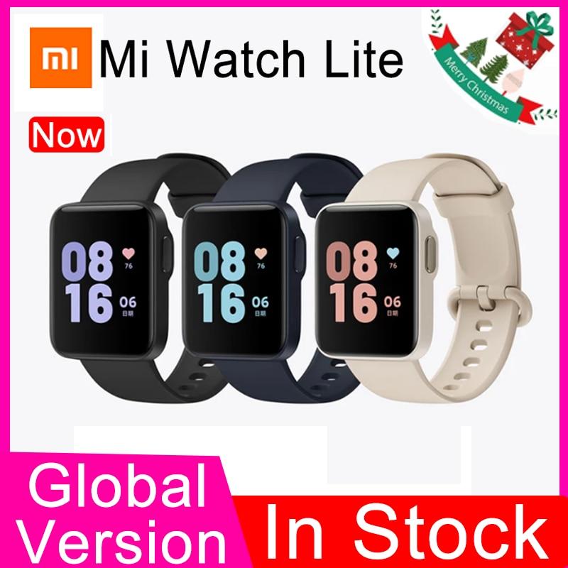 Global Xiaomi Mi Watch Lite GPS Redmi Watch Bluetooth 5 Smart Watch 5ATM Waterproof mi band Sports Fitness Heart Rate Monitor