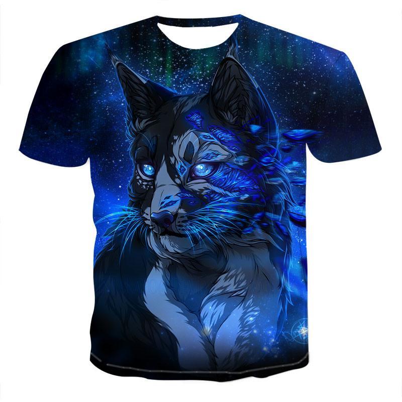 Camiseta con estampado 3D de animales para hombre 2020, camisetas divertidas para hombre, camisetas de manga corta con cuello redondo, ropa de verano con estampado 3D XXS-6XL