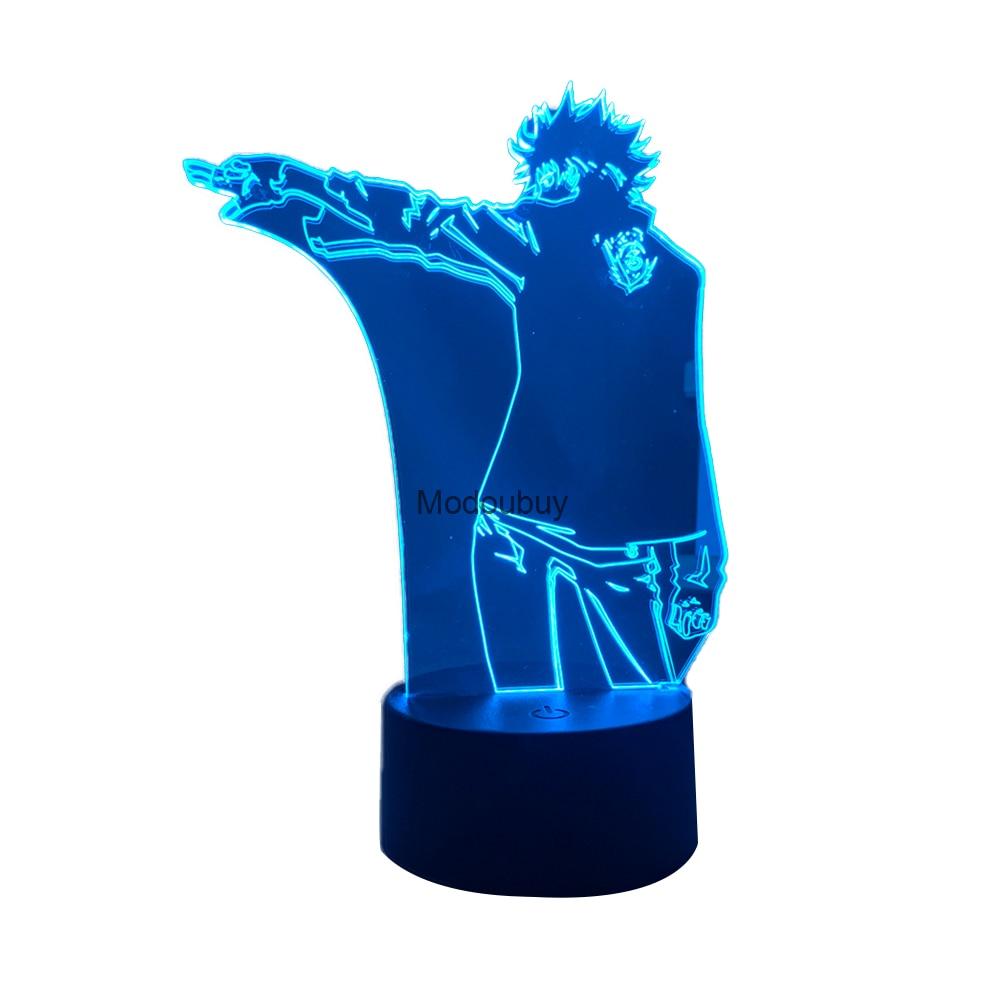 Lámpara acrílica 3d de Anime para decoración de dormitorio, luz de noche...