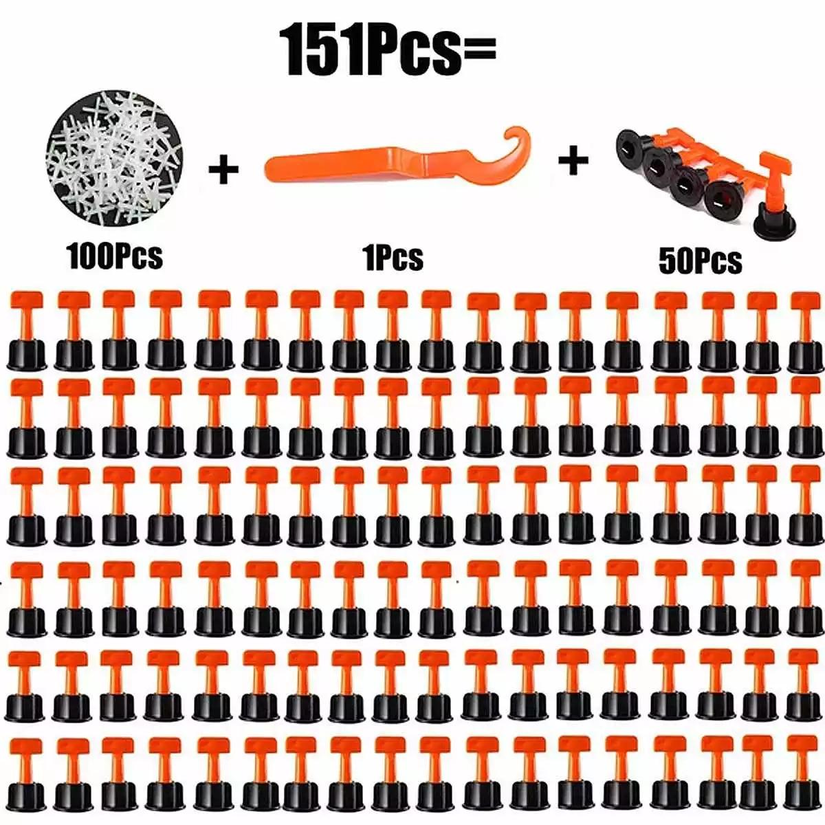 50 шт. многоразовая Выравнивающая система для плитки, Выравнивающая система для выравнивания плитки, напольного покрытия, настенной плитки, набор строительных инструментов