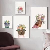 koala dog giraffe white tiger animal poster art print mural animal painting home room decoration