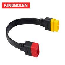 Удлинительный кабель OBDII 16 контактный разъем для Женский OBD2 разъем 16Pin инструменту диагностики ELM327 OBD2 Расширенный адаптер 0,36 м