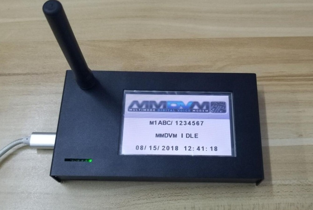 Punto de Acceso V1.7 MMDVM + Raspberry pi cero W + 2019 pulgadas LCD + antena + tarjeta SD 16G + caja de metal P25 DMR YSF 3,2