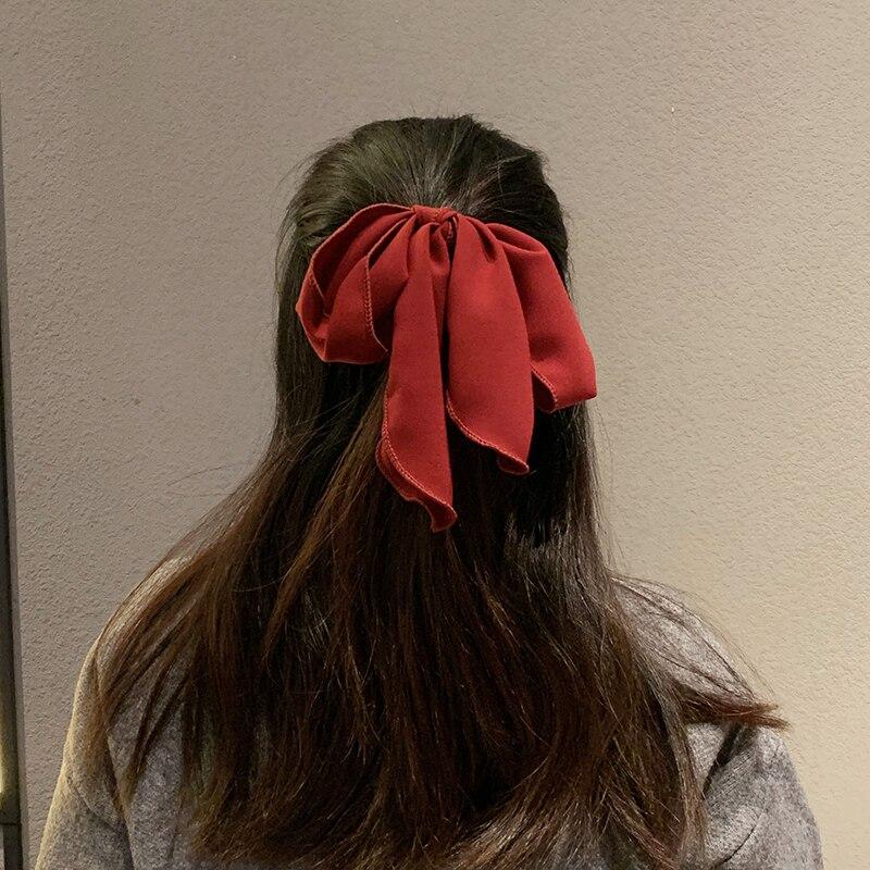 Red Bow Hair Rope Internet Influencer Fashionmonger Hair Accessories Hair Ring Korean Girly Girl Swe