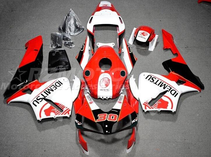 جديد جزء محقنة بلاستيكية من الأكريلونتريل بوتادين ستايرين قالب كامل Fairings عدة طقم هيكل السيارة صالح لهوندا CBR600RR F5 2003 2004 600RR 03 04 أحمر 30