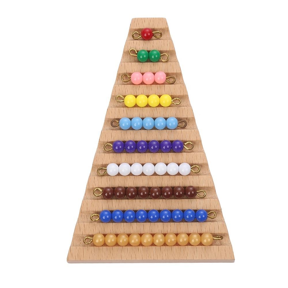 Бусины Монтессори для лестницы, математические Обучающие математические игрушки для детей, китайская фабричная цена, сертификация CE
