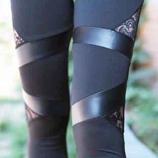 Leggings triangulares de encaje triangulares de estilo coreano de primavera y otoño de comercio exterior wo