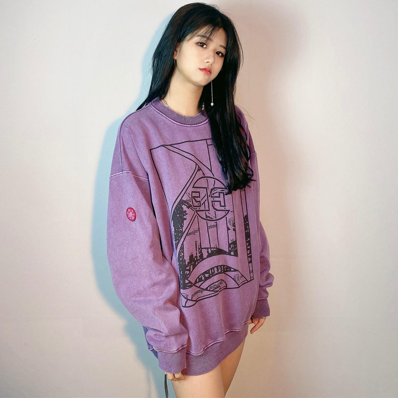 اليابان الهيب هوب ماركة C.E طباعة غسلها الرجال هوديس المرأة الملابس 2021 المرأة البلوز المتضخم هوديي قمصان سويت شيرت بقلنسوة
