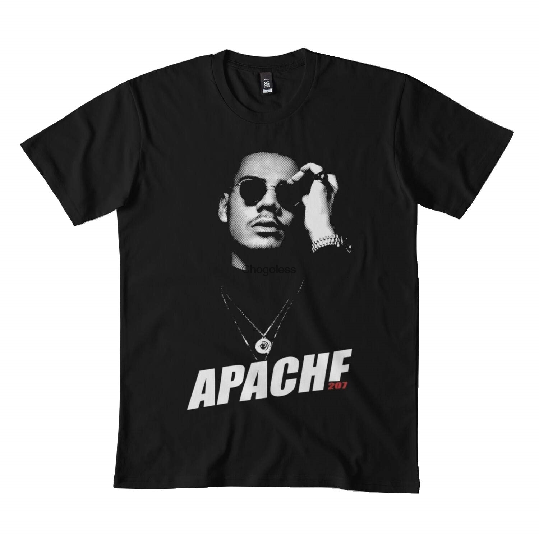 Camiseta apache 207 merch essencial dmn99 preto