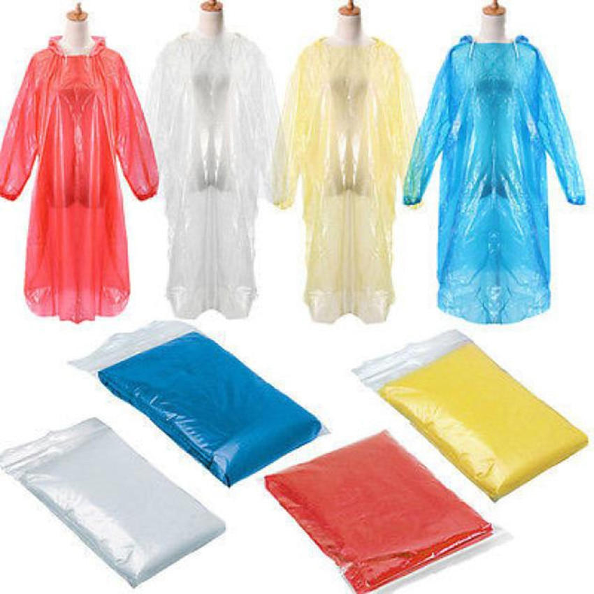 1PCS Disposable Adult Emergency Waterproof Rain Coat Poncho Hiking Camping Accessories Outdoor