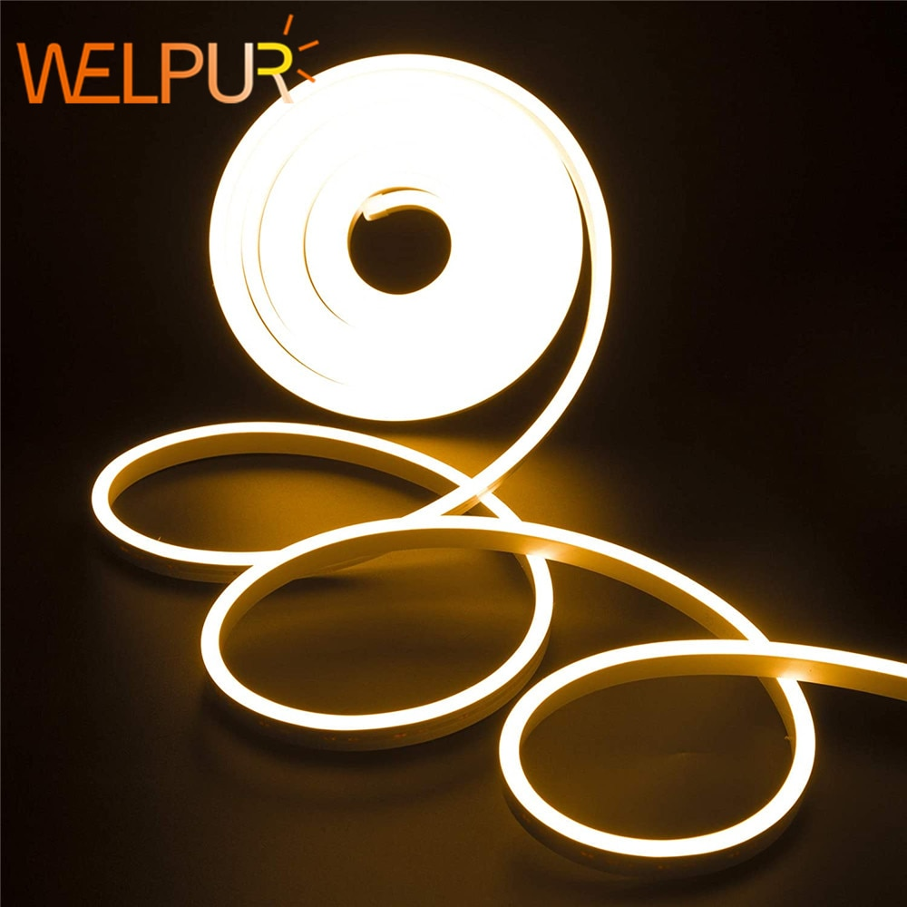 DC 12V Strip LED Light Waterproof SMD 2835 Flexible LED Neon Lights For Home Decoration warm white 1