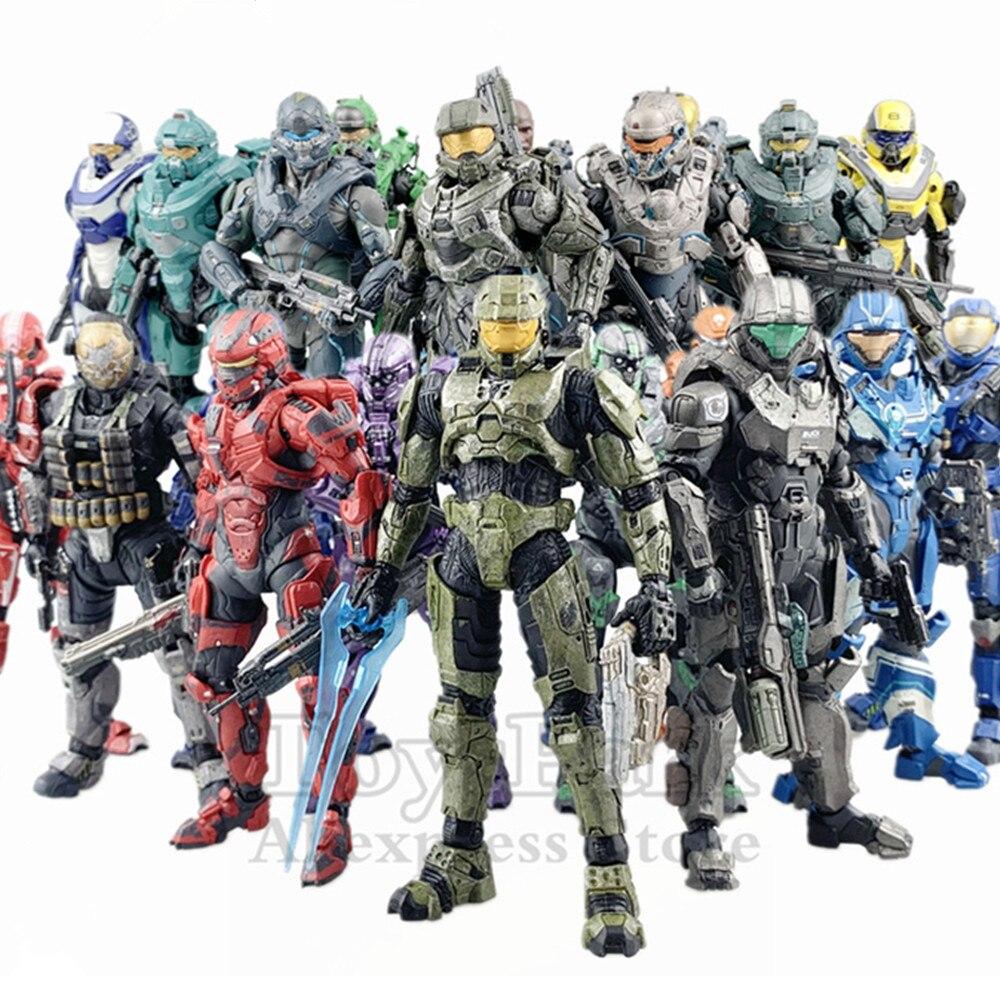 """Original mcfarlane brinquedos série de auréola 5 """"figura ação chefe soldado espartano locke fred alcance 5 4 3 2 1 boneca exclusivo colecionável"""