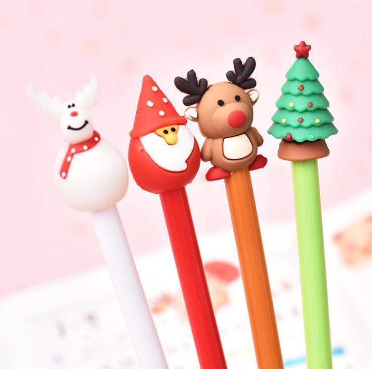 Женская рождественская серия, нейтральная ручка, маленькая свежая ручка для студентов, ручка для осмотра, канцелярские принадлежности