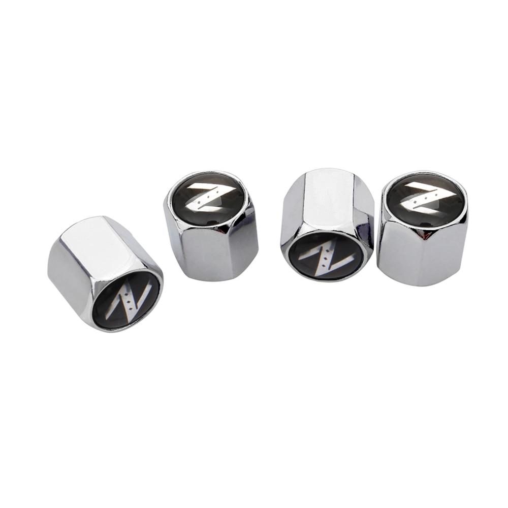 Car Accessories Auto Wheel Rims Tire Valve Stem Caps for Nissan Z X-trail Juke Qashqai Pathfinder 350-Z 370z Primera Bluebird
