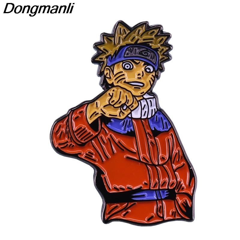 P5720 Dongmanli creatividad figuras de Anime Metal esmalte pines insignia broche mochila bolsa Collar solapa decoración joyería