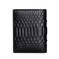 business new black men wallet short male famous luxury brand real natural python skin multi function card men wallet purse new