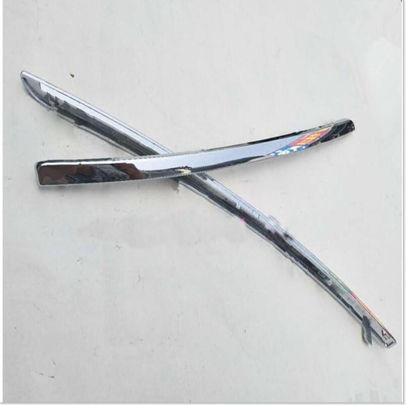 Um par para audi a6l c6 2005-2008 chrome nevoeiro quadro da lâmpada tiras decorativas