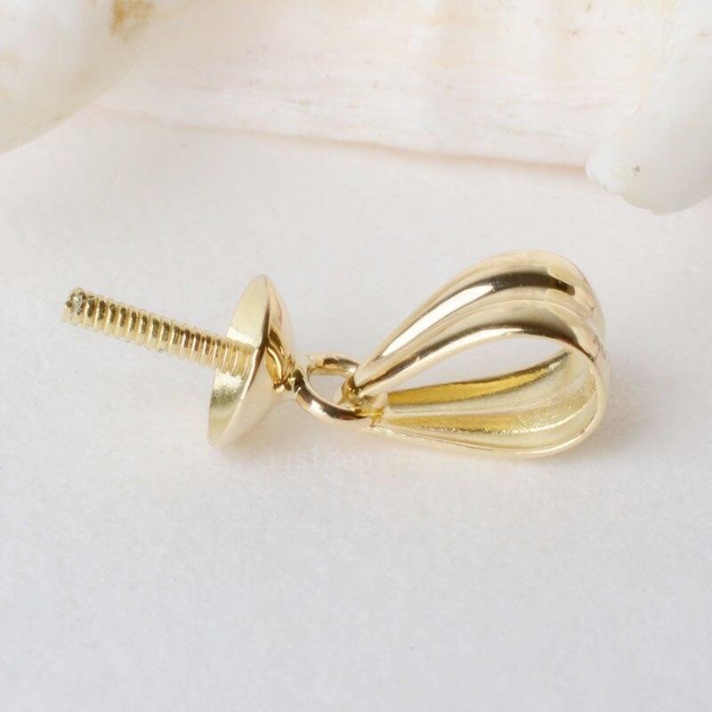 18 pitada bail pingente fecho conector ouro do karat, tampões do grânulo com peg para metade perfurado contas colar de pingente de diy