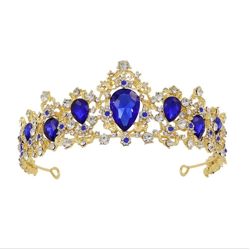 Tiara nupcial de cristal, corona, accesorios de joyas para el pelo de...