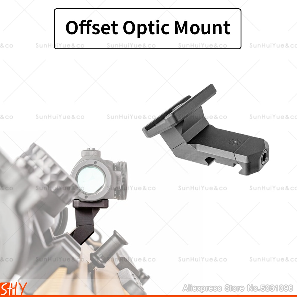 arisaka offset optic mount for red dot sights aimpoint micro t1 t2 h1 h2 trijicon rmr sro sig romeo 5 holosun hs403 hs503 hs515 ARISAKA OFFSET OPTIC MOUNT for Red Dot Sights Aimpoint Micro T1 T2 H1 H2 Trijicon RMR SRO SIG Romeo 5 Holosun HS403 HS503 HS515